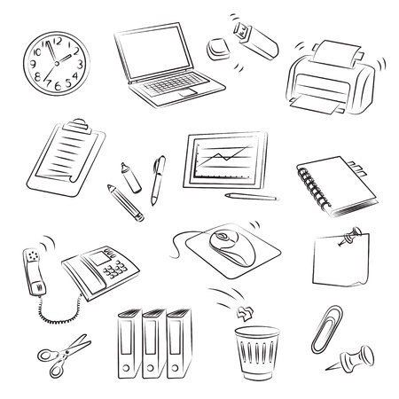 Office Set  Stock Vector - 13028056