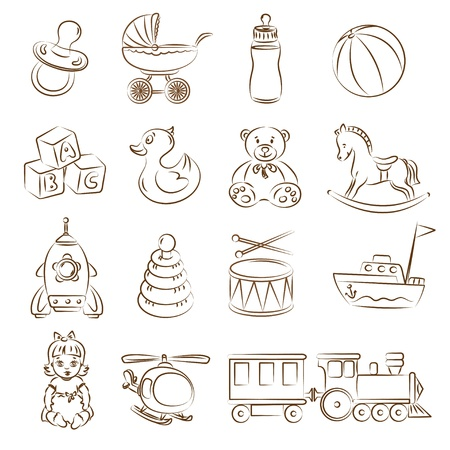 Illustration of baby toys Vector