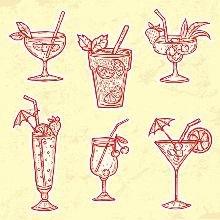 mojito: Set of Cocktails
