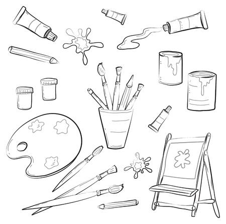 knutsel spullen: Psychiaters Gereedschap Stock Illustratie