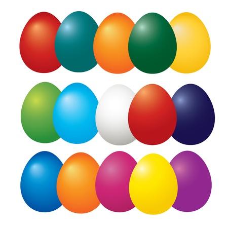 Easter eggs set vector  Vector