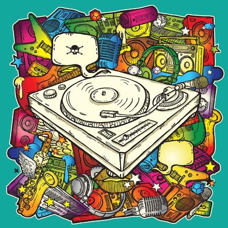 Muziek achtergrond in kleur