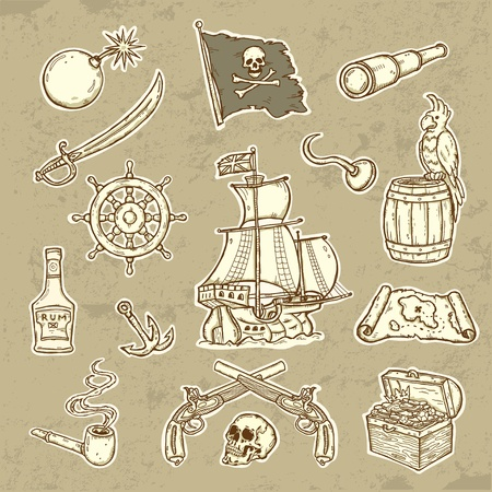 Pirates set  Illustration
