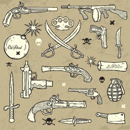 calavera pirata: Establecer las armas
