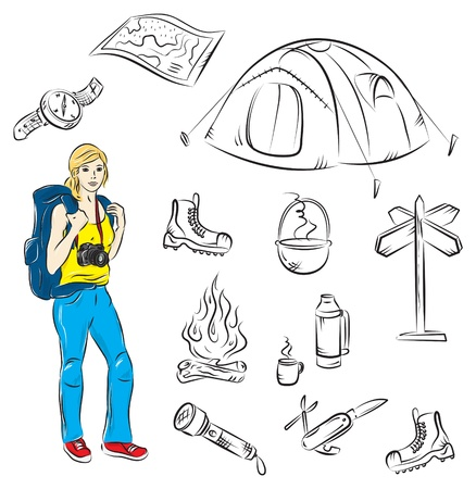 hiking boots: Camping