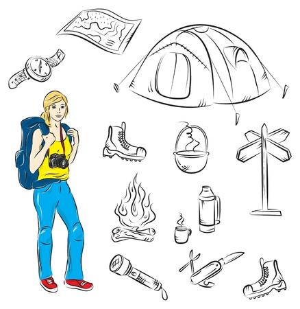 hiking boot: Camping