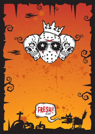 Halloween Background with grunge texture and copy space for text Vector