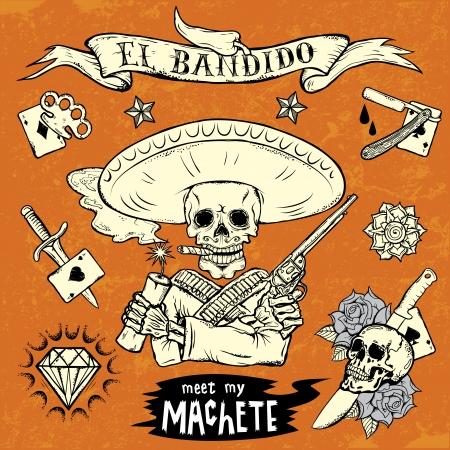 speakers: El bandido Illustration