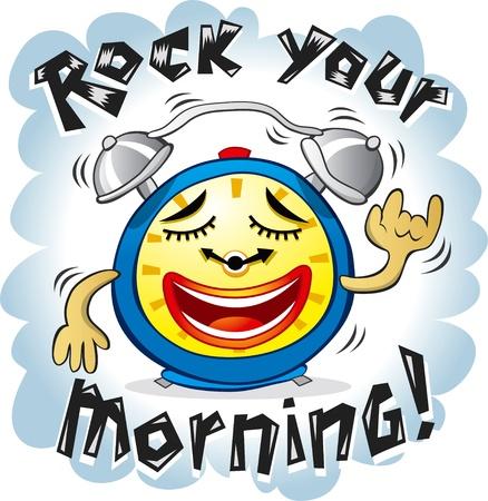 wake up happy: funny alarm clock