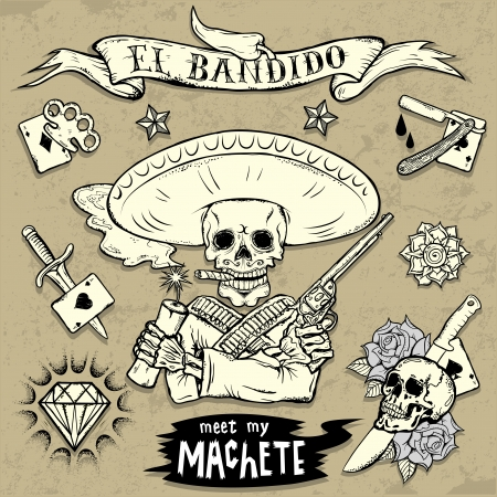 tattoo: Set of Old School Tattoo Elements