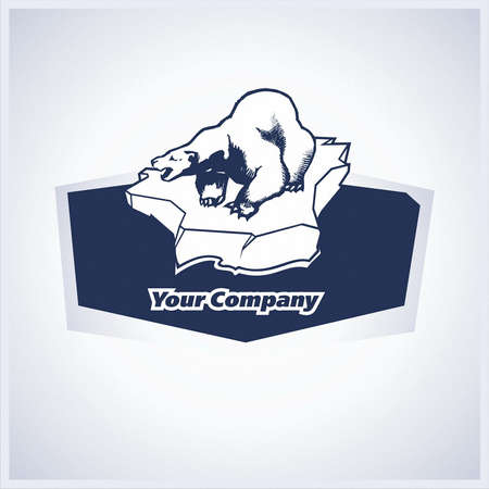 brand, symbol, bear, arctic, floe Stock Vector - 23860301