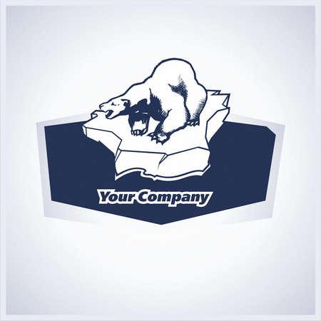floe: brand, symbol, bear, arctic, floe Illustration
