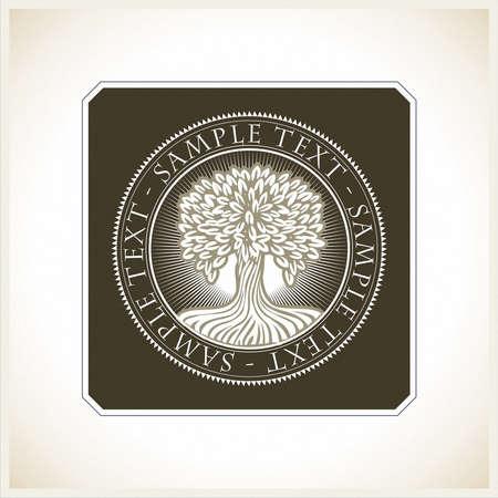 the depth: brand, symbol, tree, depth, wisdom Illustration