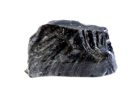 obsidian - volcano`s glass, dragon`s glass.  photo