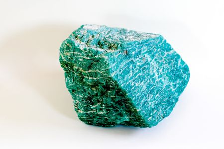 lazurite shoted in white background photo