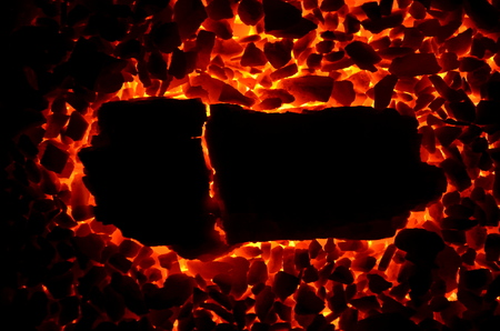 Burning coal anthracite of different fractions.