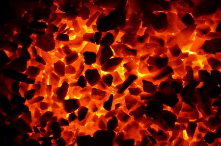 Sticking background of burning coal anthracite.