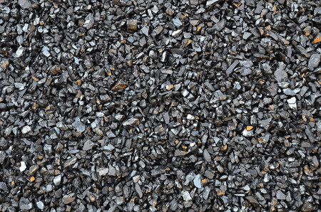 Extracted and enriched coal anthracite fines is scattered. Stock fotó