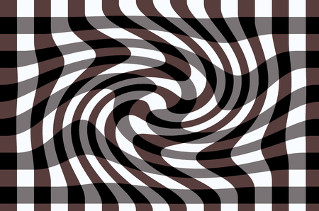 Abstract background of a checkered surface with a slight twisting in a clockwise direction.