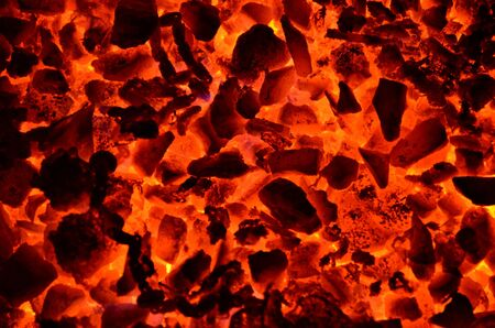 The graphic resource consists of burning coal anthracite of small fraction.