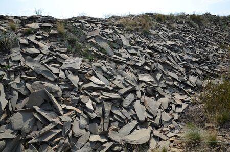 Decomposed mined stones are a die used in decorating. Zdjęcie Seryjne