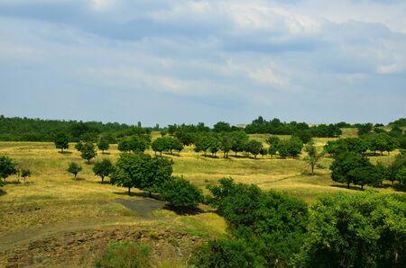 Deserted landscape on a summer day.