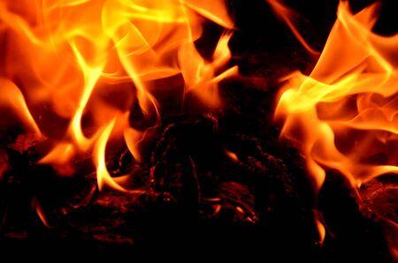 Bifurcated flame as a graphic resource.