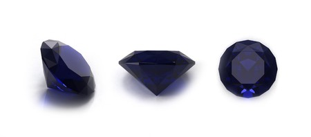 spinel: Blue sapphire gems Stock Photo