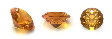 sapphire: Citrino gemas Foto de archivo