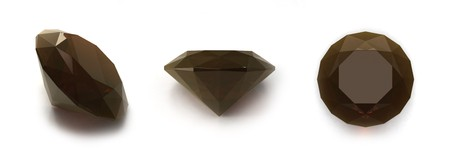 zircon: Smoky quartz gems