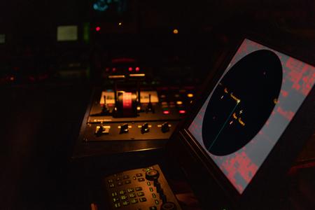 Marine navigational equipment on modern ship or vessel