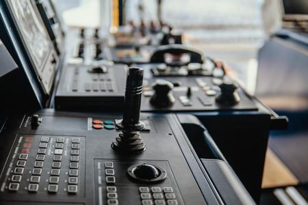 Bridge ship equipment of offshore dp vessel Stok Fotoğraf