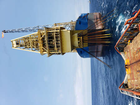 Floating production storage and offloading FPSO vessel, oil and gas indutry 免版税图像