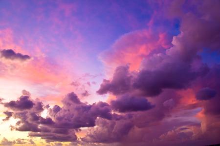 colorful cloudscape: Colorful cloudscape after the storm at sunset