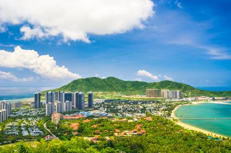 中国海南省三亜市の概要 写真素材