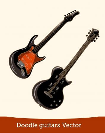doodle guitar Illustration