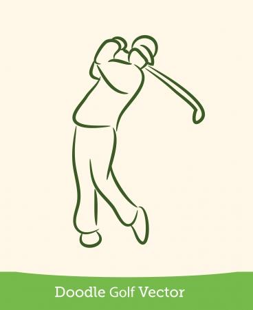 golfing: doodle golf Illustration