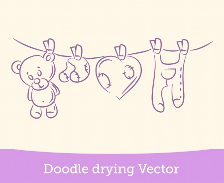laundry hanger: doodle drying