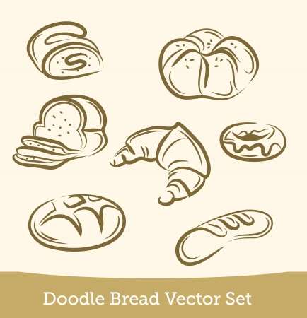 bread roll: doodle bread set