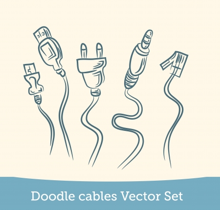 doodle cable set Illustration