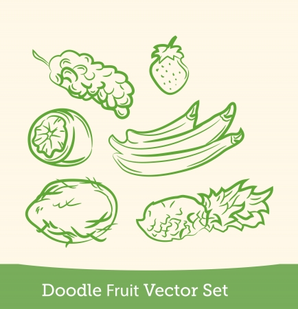 doodle fruit set