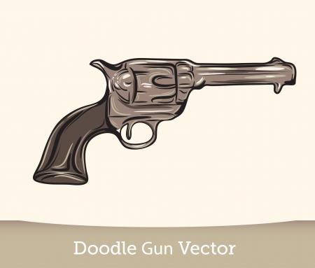 gangster with gun: doodle gun