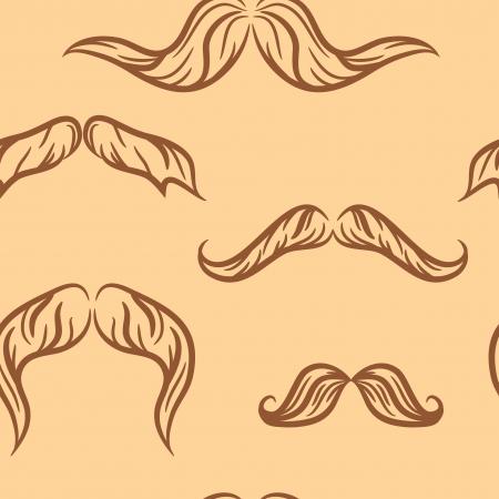doodle mustache set