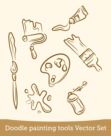 doodle painting tools set