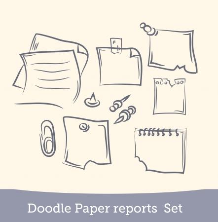 doodle paper reports set