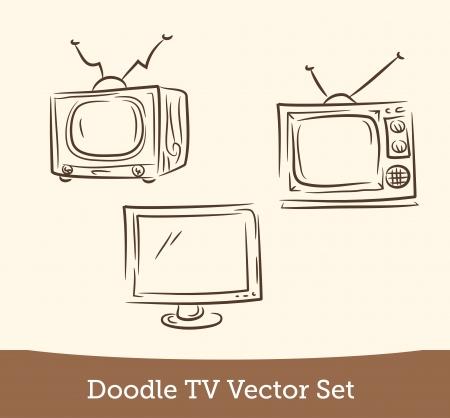 doodle TV set Illustration