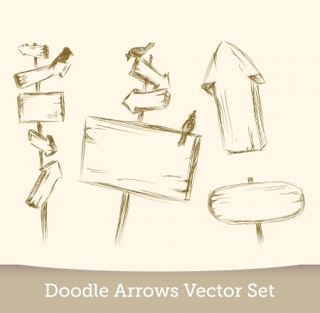 doodle signboard set