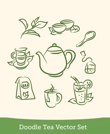 doodle tea set