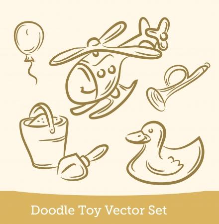 doodle Toy set Illustration