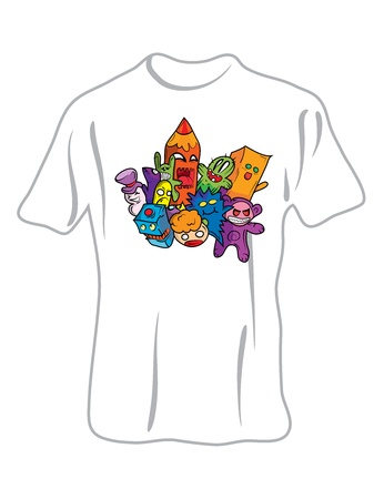Doodle Monsters T-shirt